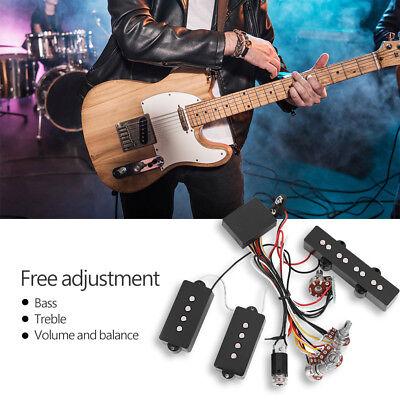 Active Bass Pickup Set Preamp Circuit Precision Bridge JP Ba