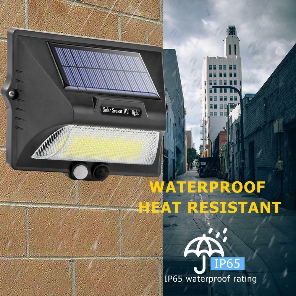 COB Solar Power Light Waterproof Body Motion Sensor Outdoor