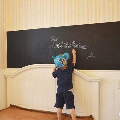 Removable Chalk Room Blackboard 45x182 cm Black Board Decal Wall Sticker Kids