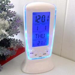 Digital LCD Alarm Clock Calendar Thermometer Backlight Multi-function Display #