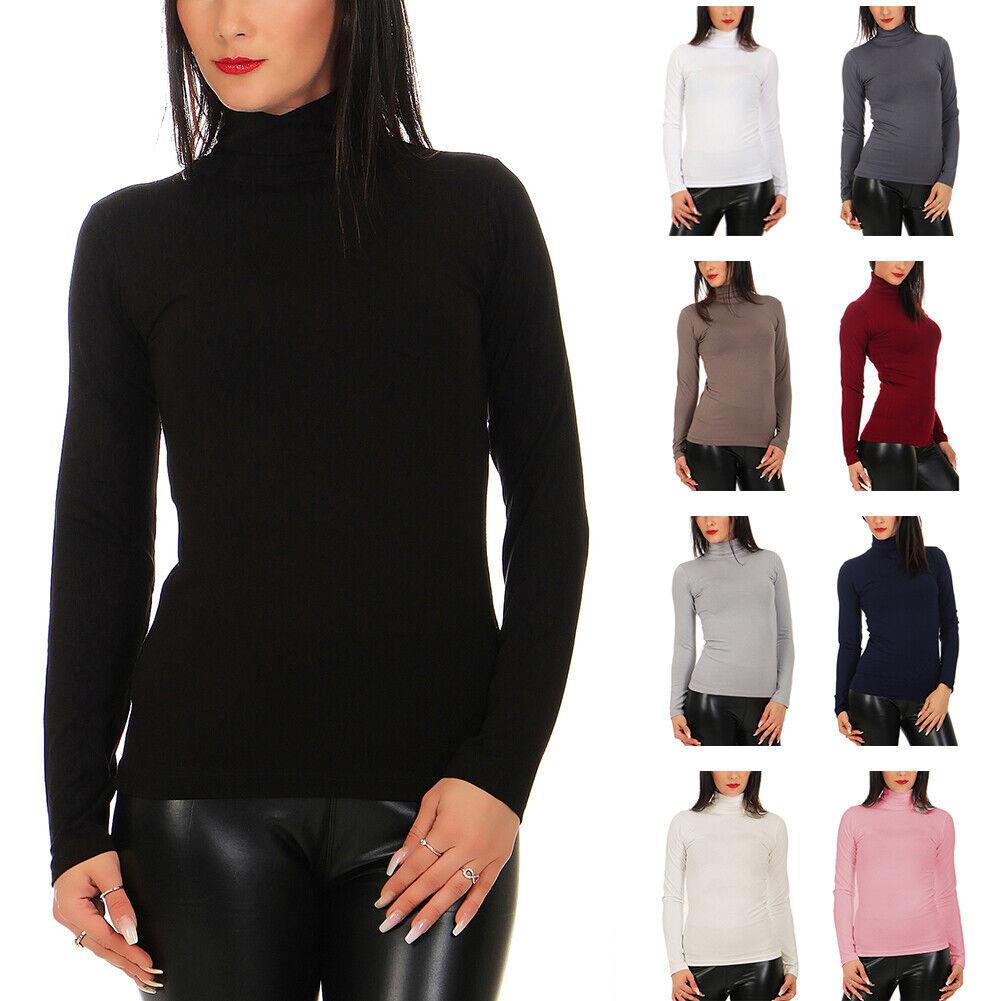BALI Lingerie - Damen Langarm Shirt Rollkragen - 020