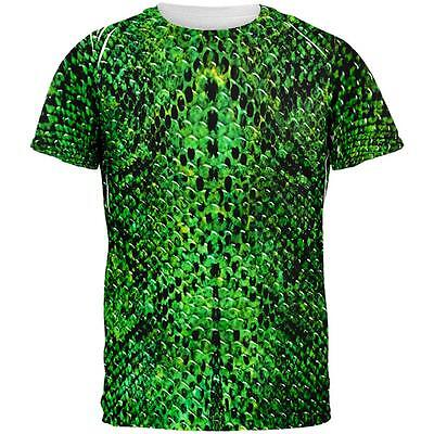 Halloween Green Snake Snakeskin Costume All Over Mens T Shirt](All Green Halloween Costume)