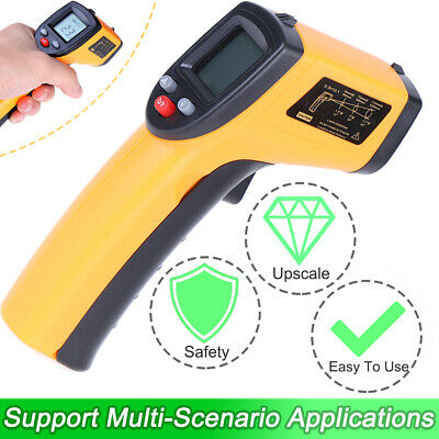 Digital Non-contact Lcd Ir Laser Infrared Temperature Thermometer Gunpyrometer
