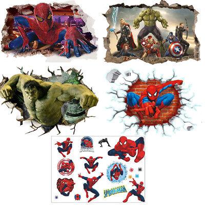 Spiderman Spider Man PVC Sticker 3D Wandaufkleber Wandtattoo Wandaufkleber Neu