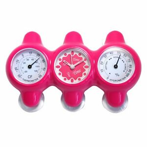 Salle De Bain Mur Horloges Douche Tanche Avec Ventouses Thermom Tre Hygrom Tre Ebay