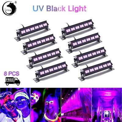 Wedding UV Uplighting Led  DJ 6LED Disco Party Wall Wash DJ Stage Light 8pcs - Bulk Black Lights