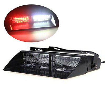 Emergency Vehicle Strobe Lights (Car 16led 18 Flashing Mode Emergency Vehicle Dash Warning Strobe Light Red/White )