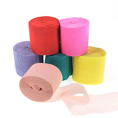 10m Crepe Paper Streamer Rolls Wedding Birthday Party Supplies Decor 12 Colors - Crepe Paper Decorations