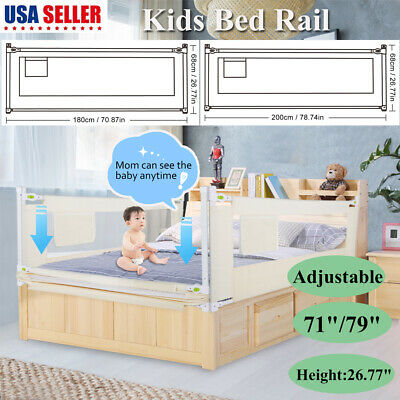 1.8/2M Portable Foldable Children Bed Rail Toddler Elderly Child Safety Guard US Portable Toddler Bed