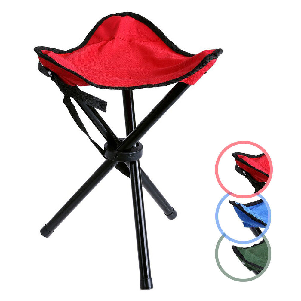 Groovy Details About Folding Stool Portable Tripod Seat Triangle Chair Outdoor Camping Picnic Slacker Inzonedesignstudio Interior Chair Design Inzonedesignstudiocom