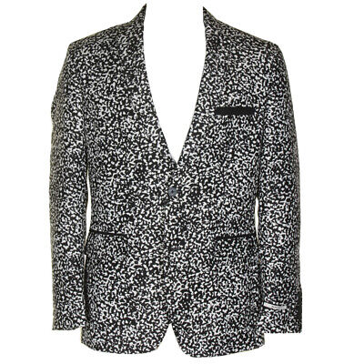 Inc International Concepts Mens Black White Patterned Slim Fit Blazer M Clothing, Shoes & Accessories