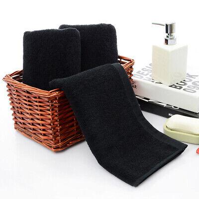 Black Cotton Towels Solid Face Towel Hotel Bathroom Home Adu