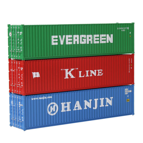 3pcs HO Scale 1:87 40ft Shipping Container 40