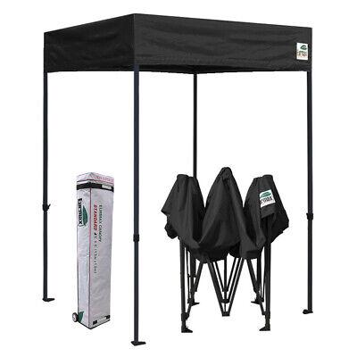 5'X5' Outdoor Pop up Canopy Pavilion Gazebo Party Tent Fair Shelter Black