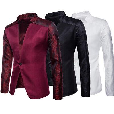Men's Suit Coat Tops Business Blazer Slim Fit One Button Casual Jacket US STOCK ()