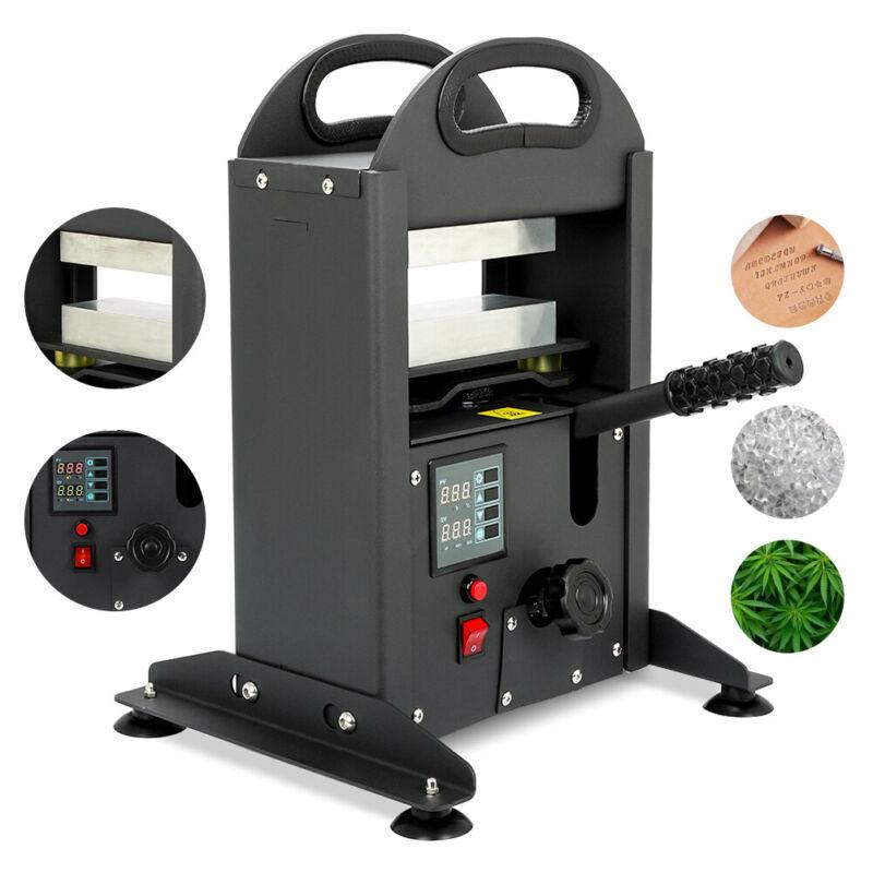 "7 Ton Manual Hydraulic Rosin Press Machine 110V Dual Heat Plates 2.4""×5.9"""