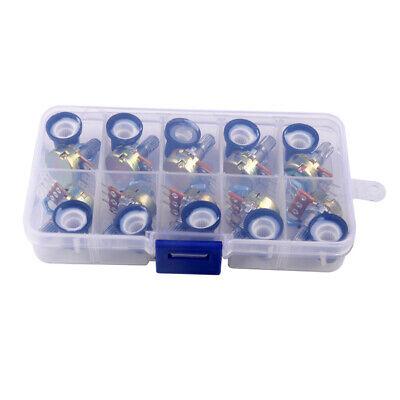 10pcs 10values 15mm Single Potentiometer Assortment Kits B1-b500k With Box