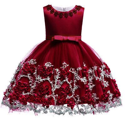 Flower Girl Dress for Baby Kid Baptism Christening Wedding Birthday Party Gown - Baby Christening