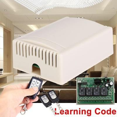 DC12V Wireless Remote Control Switch SRA 4CH Relay Receiver & RF 2 Transmitter p