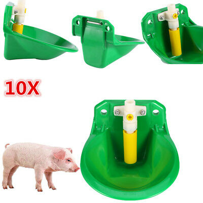10pcs Livestock Pp Water Drinker Feeder For Sheep Pig Hog Atuomatic Drinker Hot