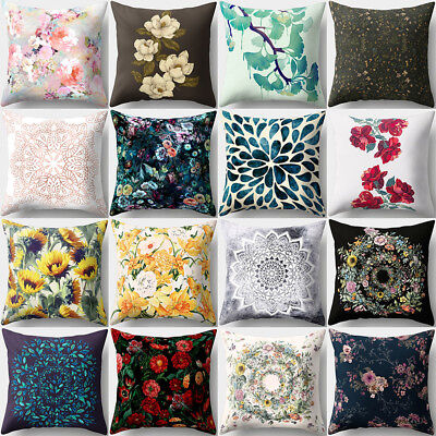 Floral Pattern Square Throw Pillow Cover Case Cushion Home Sofa Car Decor Cheap (Cheap Pillow)