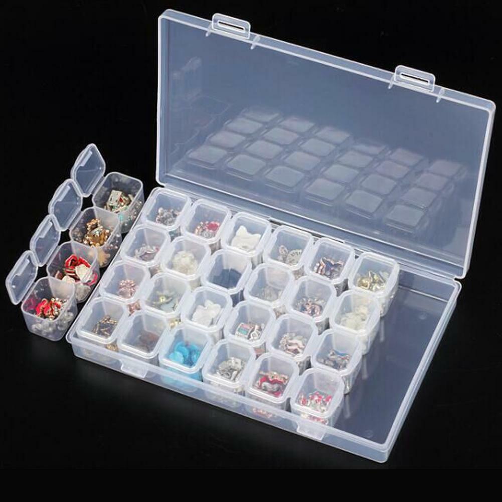 plastic 28 slots nail art tools jewelry