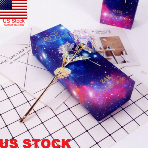 Home Decoration - Galaxy Rose Flower Valentine's Day Lovers' Gift Romantic PP Rose With Box New