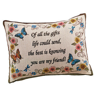 My Friend Tapestry Throw Pillow Decorative Accent - $9.99