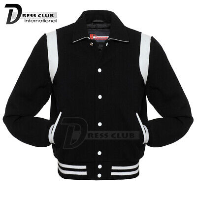 Letterman Jacket Sale (Discounted Sale Offer Letterman Varsity Jacket Black Body White Inserts Size)
