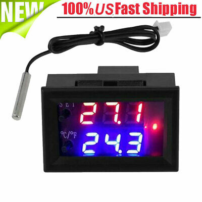 24v Digital Thermostattemperature Alarm Controller Digital Cool Heat With Sensor