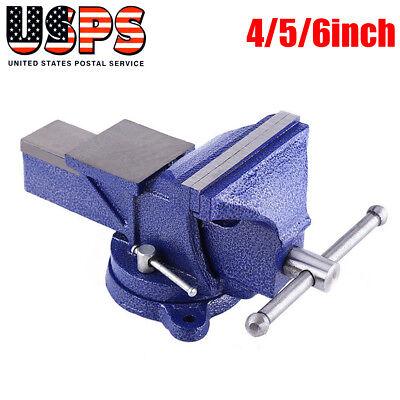 456 Bench Vice Workshop 360clamp Mechanic 110mm Jaw Workshop Heavy Duty Us