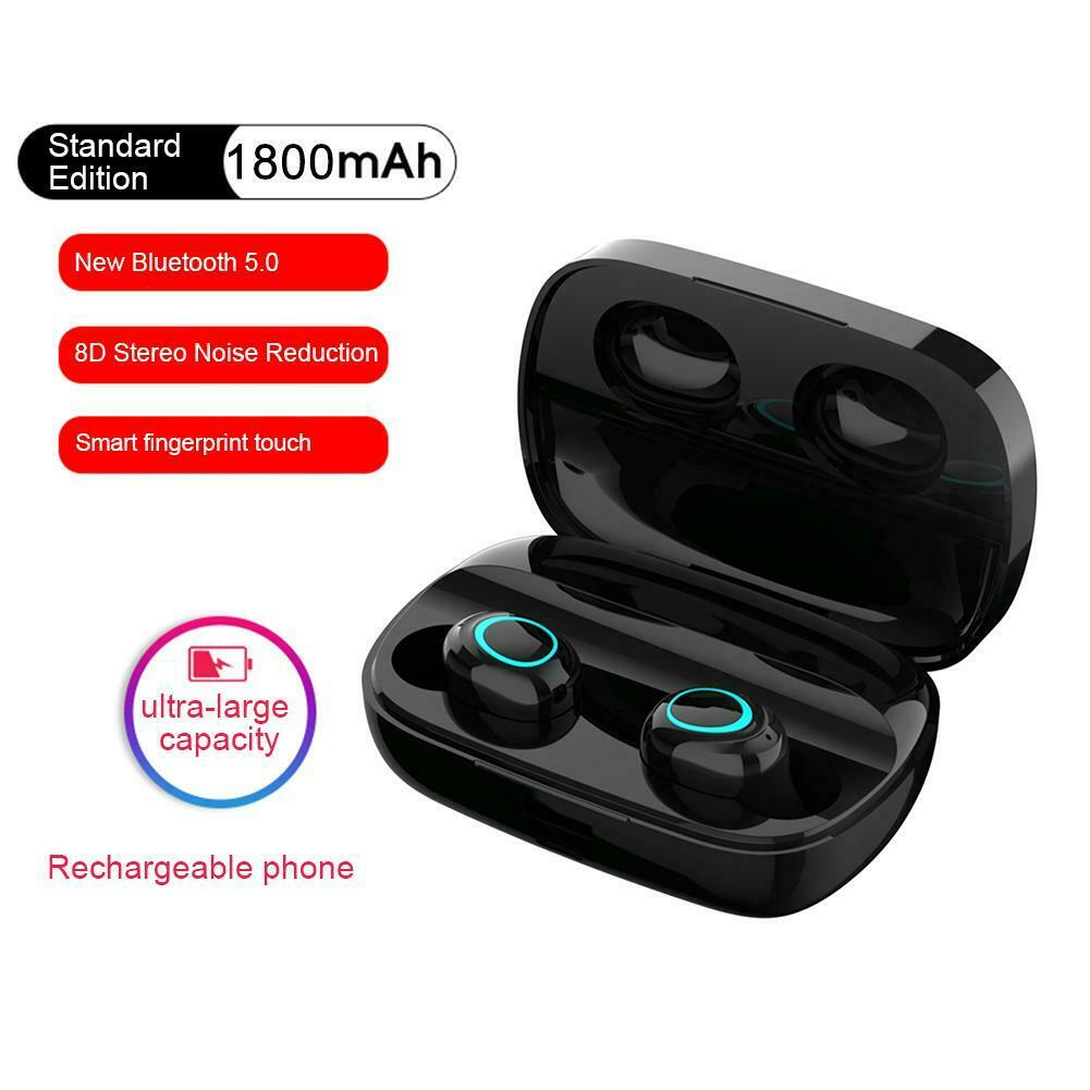 TWS IPX5 Wireless Bluetooth 5.0 Earphone 8D Surround Sound E