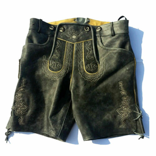 Authentic German Bavarian Oktoberfest Trachten Lederhosen Costume Man Short wear