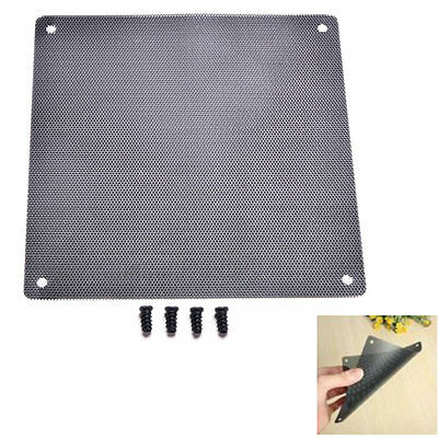 120mm Computer PC Dustproof Cooler Fan Case Cover Dust Filter with 4screws Tool#