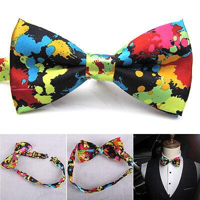 Mode Herren Hochzeit Fliege Krawatte Bunt Schmetterling Verstellbar