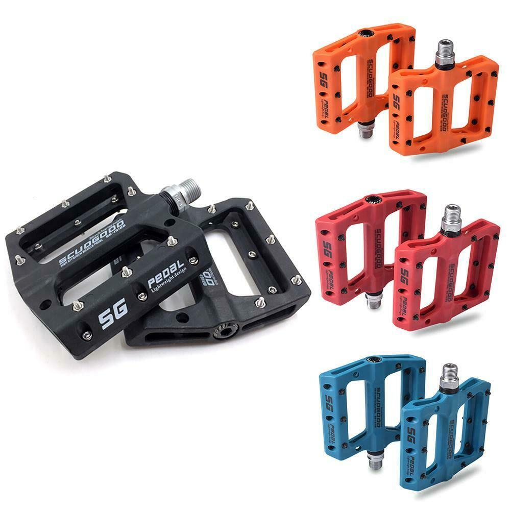 2x Road Mountain Bike Platform Pedals Wide Flat MTB Nylon Sealed Bearing 9//16/'/'