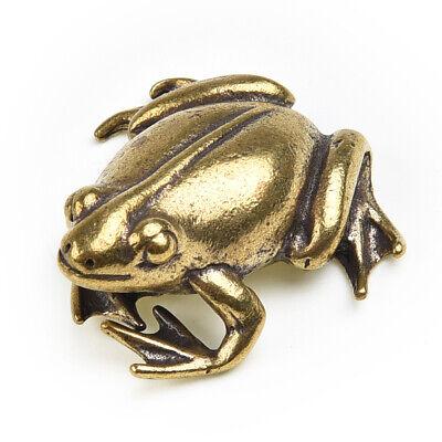 Vintage Frog Ornament Brass Decoration Display Outdoor Garden Christmas