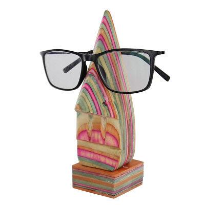 Handmade Eyeglass Sunglass Holder Wooden Display Abstract Nose Stand (Wooden Sunglasses India)