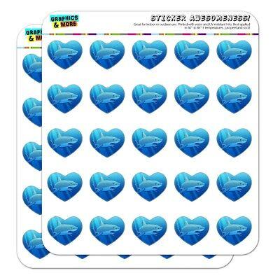 Great White Shark Realistic Heart Planner Scrapbook Craft - Shark Craft