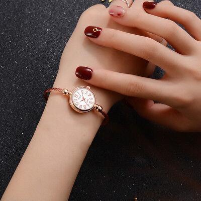 Dial Bangle Bracelet Watch - HOT Lady Solid Color Round Dial Opening Bangle Bracelet Quartz Wrist Watch Littl