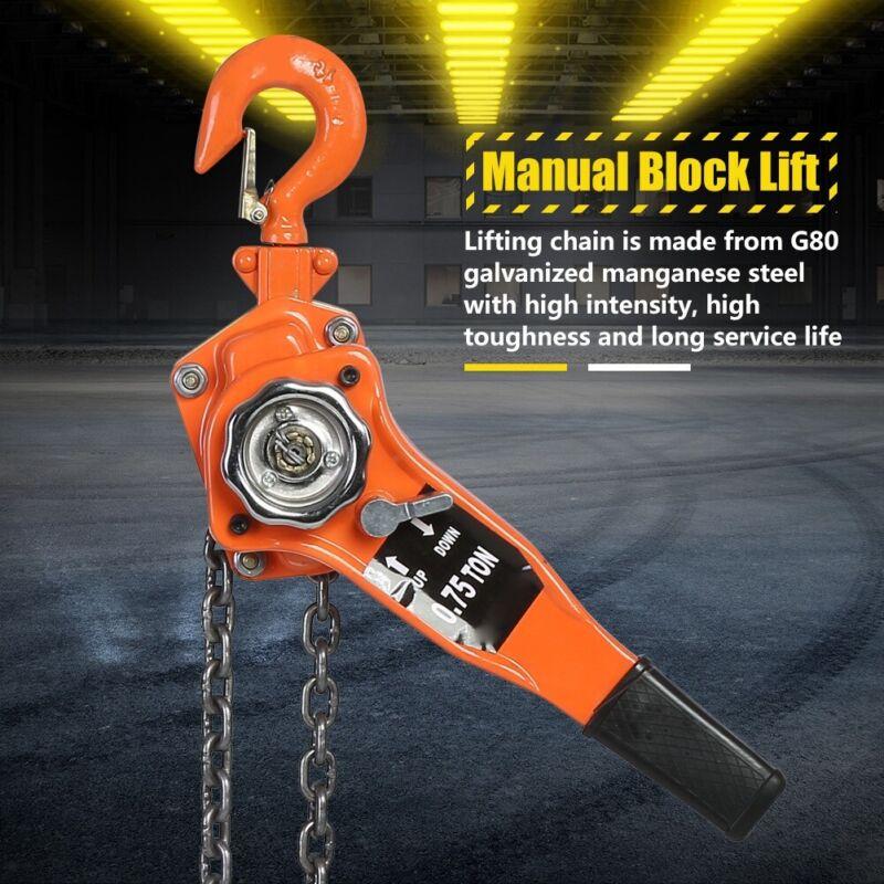 0.75t 10FT Chain Block Hoist Ratchet Hoist Ratchet Lever Pulley Lifting
