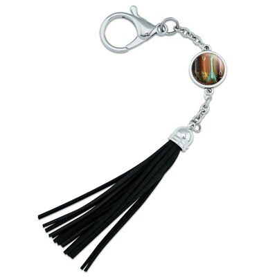 Guitars Electric Acoustic Rock and Roll Backpack Purse Keychain Tassel Charm, used for sale  Shipping to India