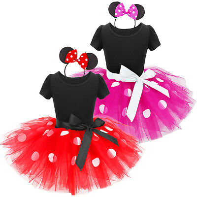Kids Christmas Minnie Mouse Dress up Tutu Costume for Baby Girls Birthday - Christmas Minnie Mouse Costume