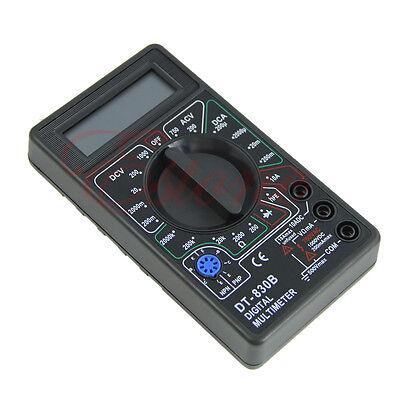 Voltmeter Portable Mini Ammeter  Handheld Tester Ohmmeter LCD Digital Multimeter