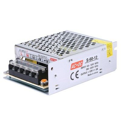 Ac 110-220v To Dc 12v 5a 60w Volt Transformer Switch Power Supply Converter Us