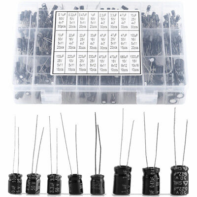 500pcs 24 Value 0.1uf1000uf Electrolytic Capacitors Condenser Assortment Set Us