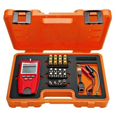Platinum Tools Rj45 Network Lan Ethernet Bnc F Coax Cable Tester Tracker Kit