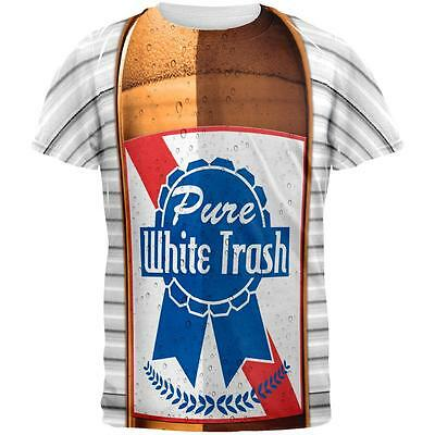 4th of July Halloween Pure White Trash Beer Costume All Over Mens T Shirt
