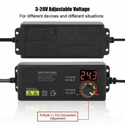 3v-36v Voltage Variable Adjustable Acdc Power Supply Adapter With Led Display