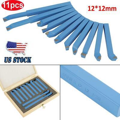 11pcs Metal Lathe Tools Set Bits For Mini Lathe Cutting Tool Turning 1212mm Usa